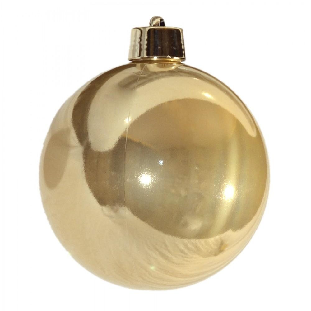 20 cm julekugle, perlemor guld-32