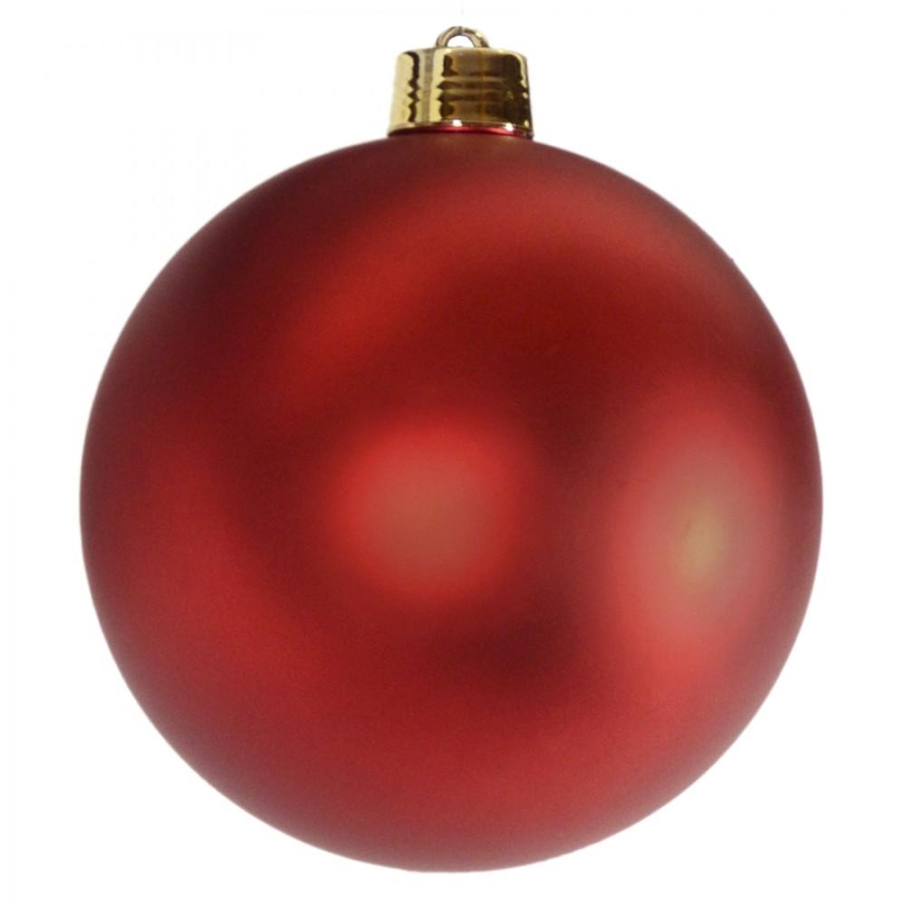25 cm julekugle, mat rød-32