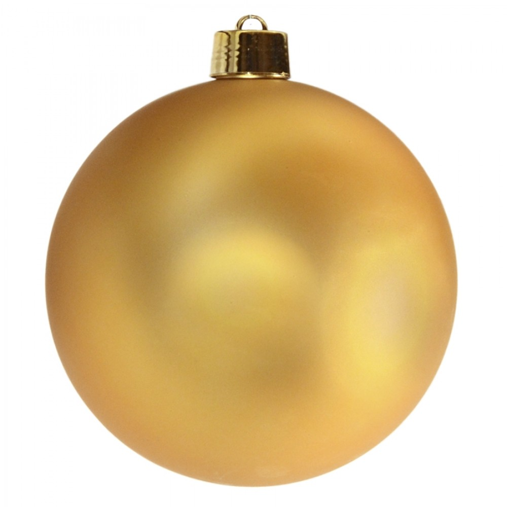 25 cm julekugle, mat guld-32