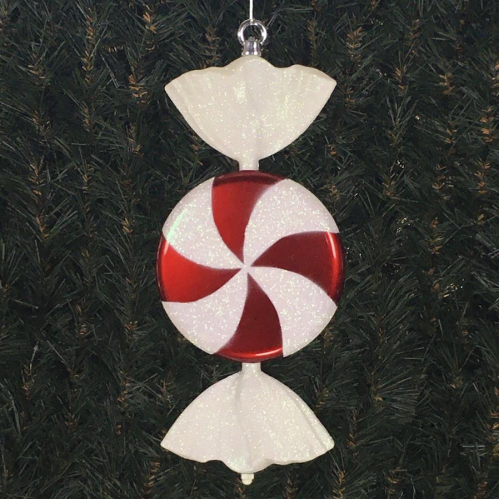 33 cm fladt slik, perlemor rød med hvidt glitter-31