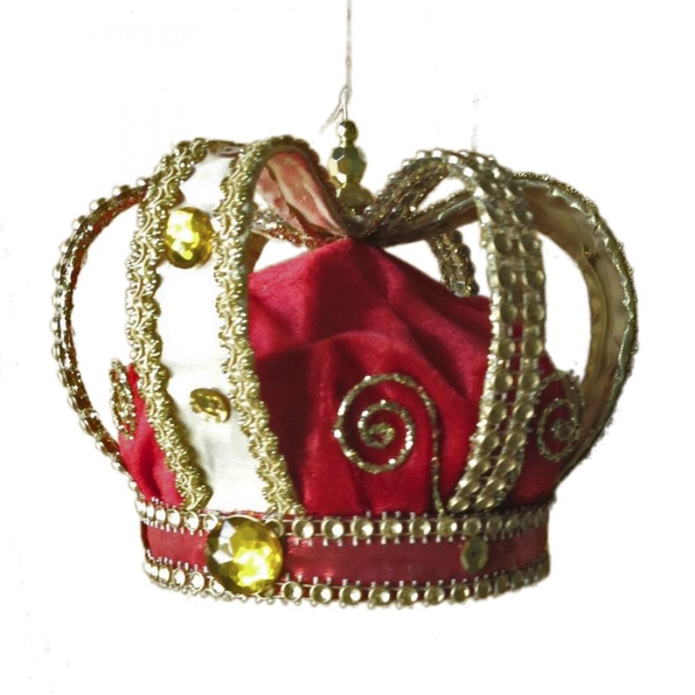 Kongekrone, 14x15 cm, rød og guld-31