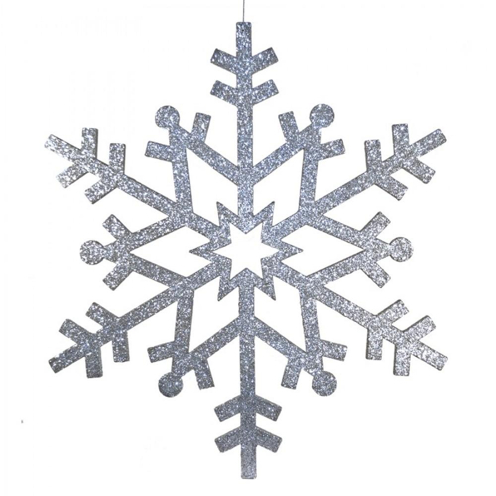 81 cm snefnug, glitter, sølv-31
