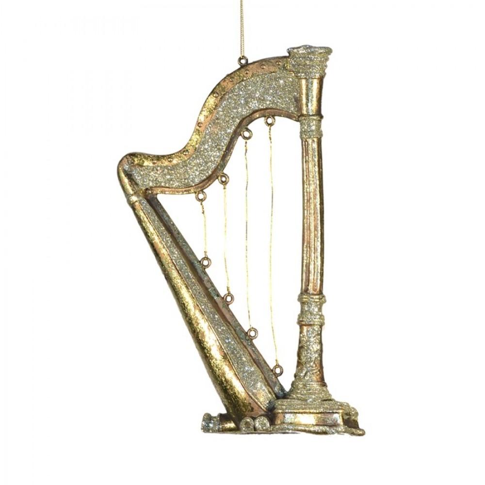 Harpe antik guld m/champagne glitter, 26 cm-31
