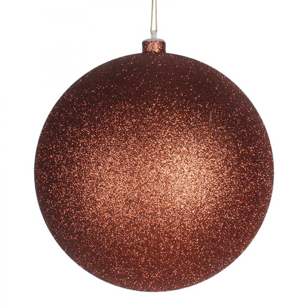 20 cm julekugle, glitter, kobber-31