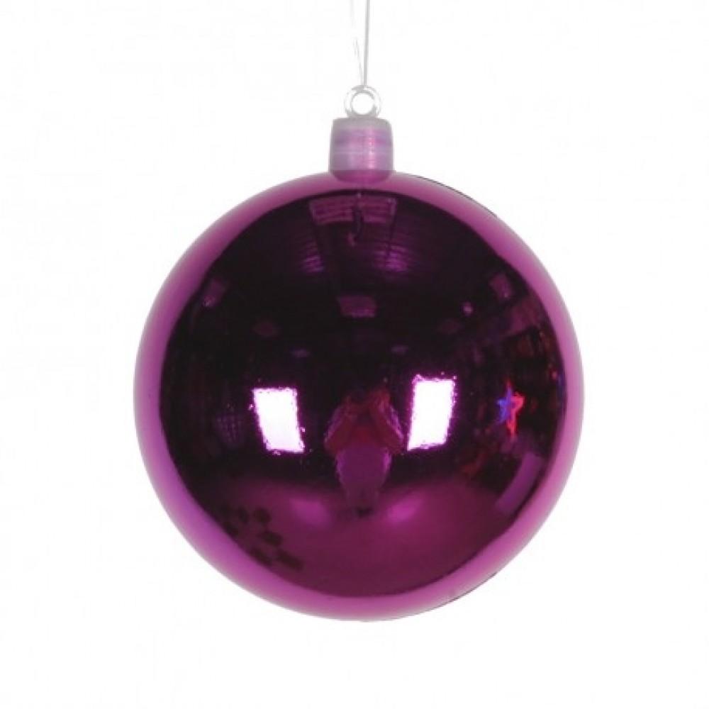 8 cm julekugle, blank, pink-31
