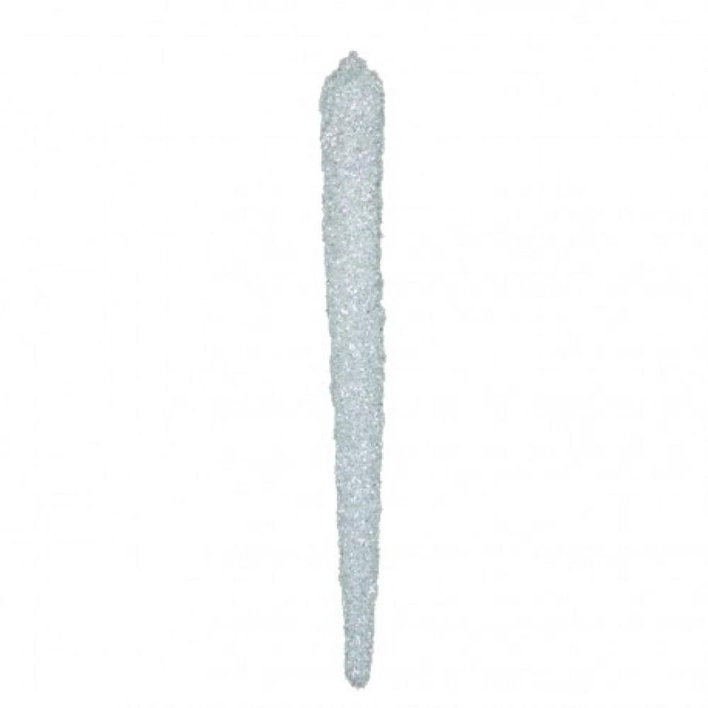 60 cm istap, grovglitter, hvid-31