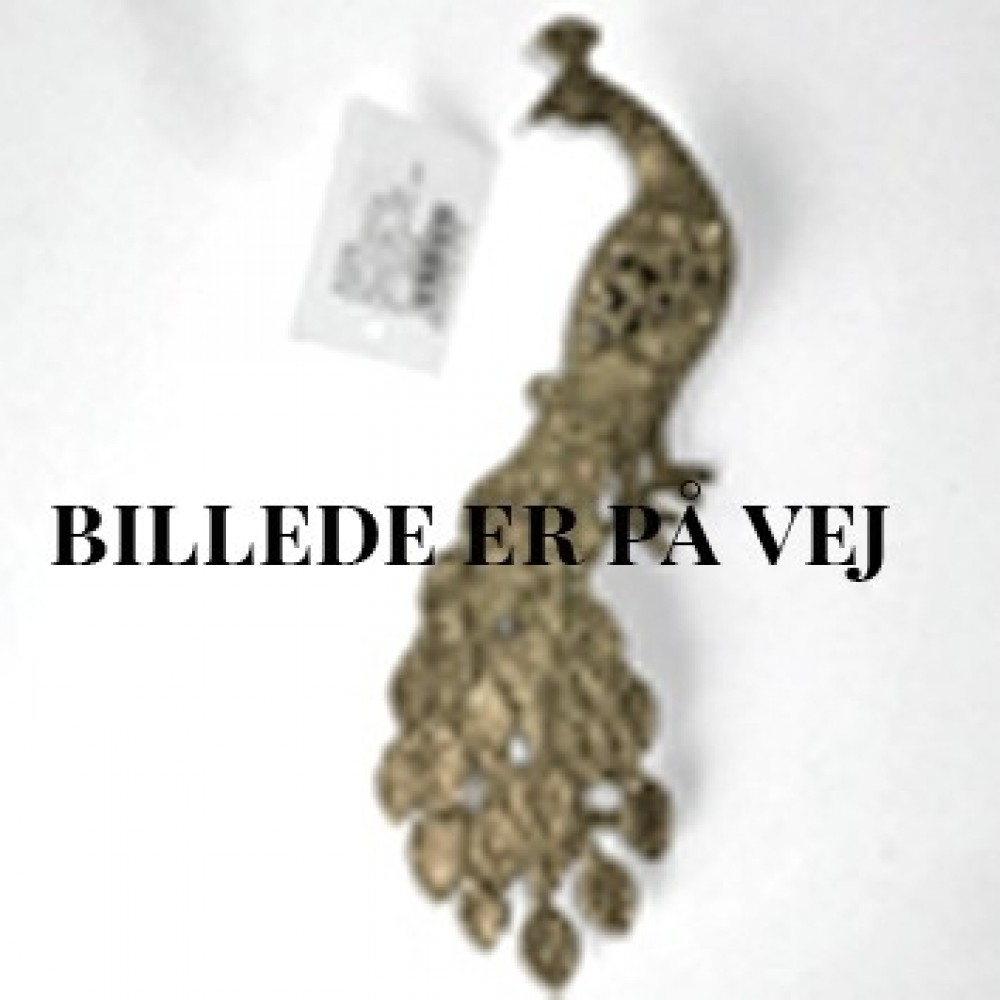 19,5 cm påfugl, glitter, champagne-31