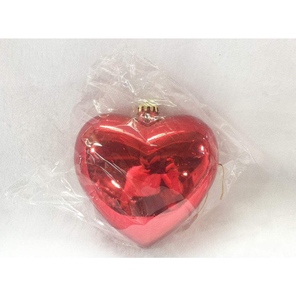 Hjerte, blank rød, 15 cm-01