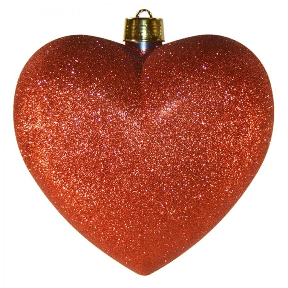 Hjerte, glitter rød, 30 cm-32