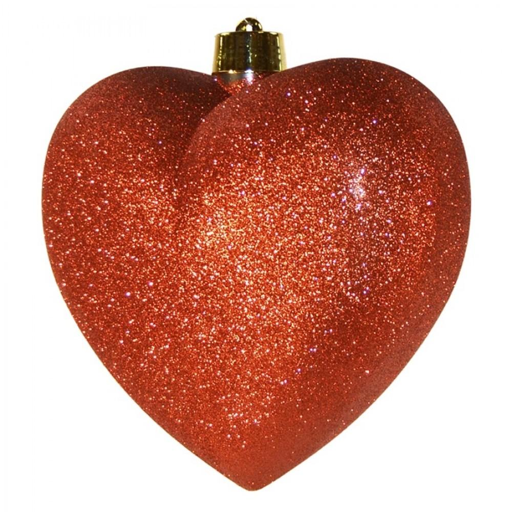 Hjerte, glitter rød, 30 cm-02