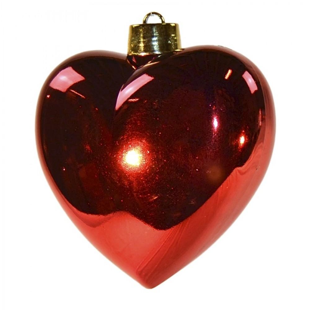 Hjerte, blank rød, 23 cm-04