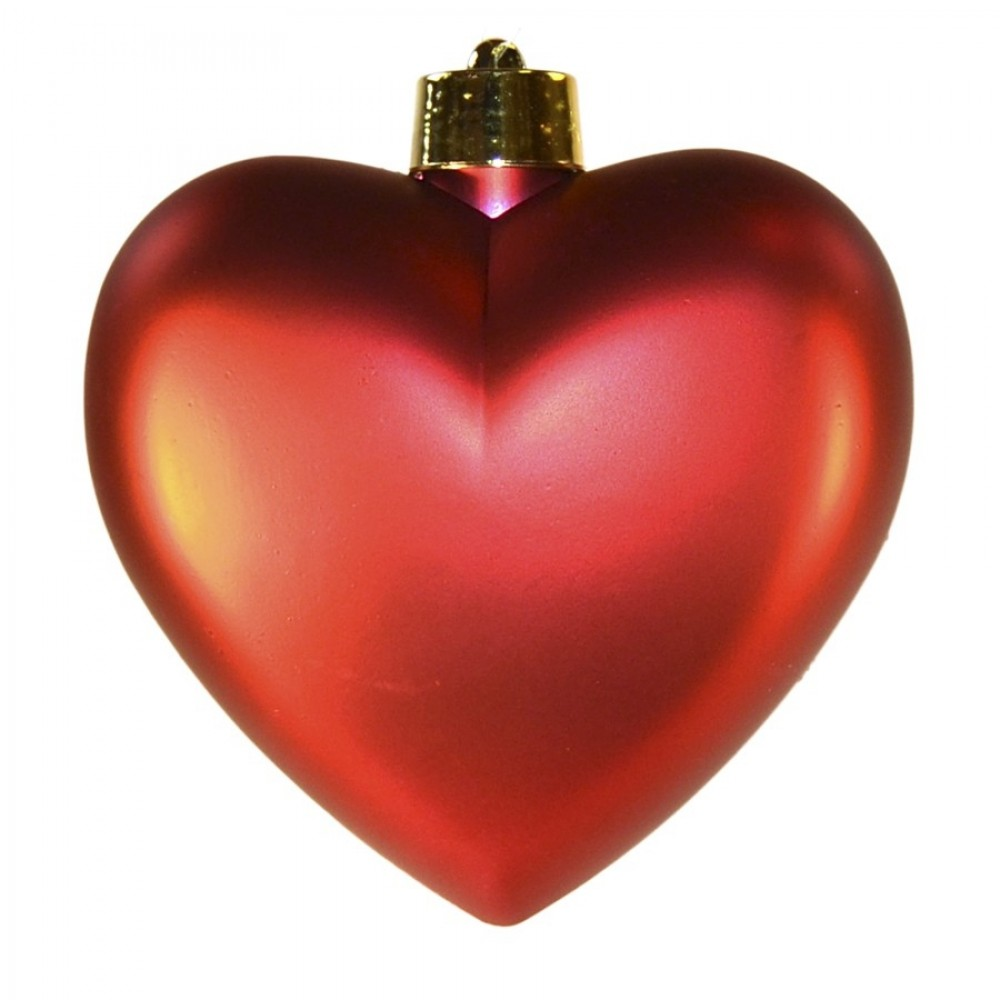 Hjerte, mat rød, 23 cm-31
