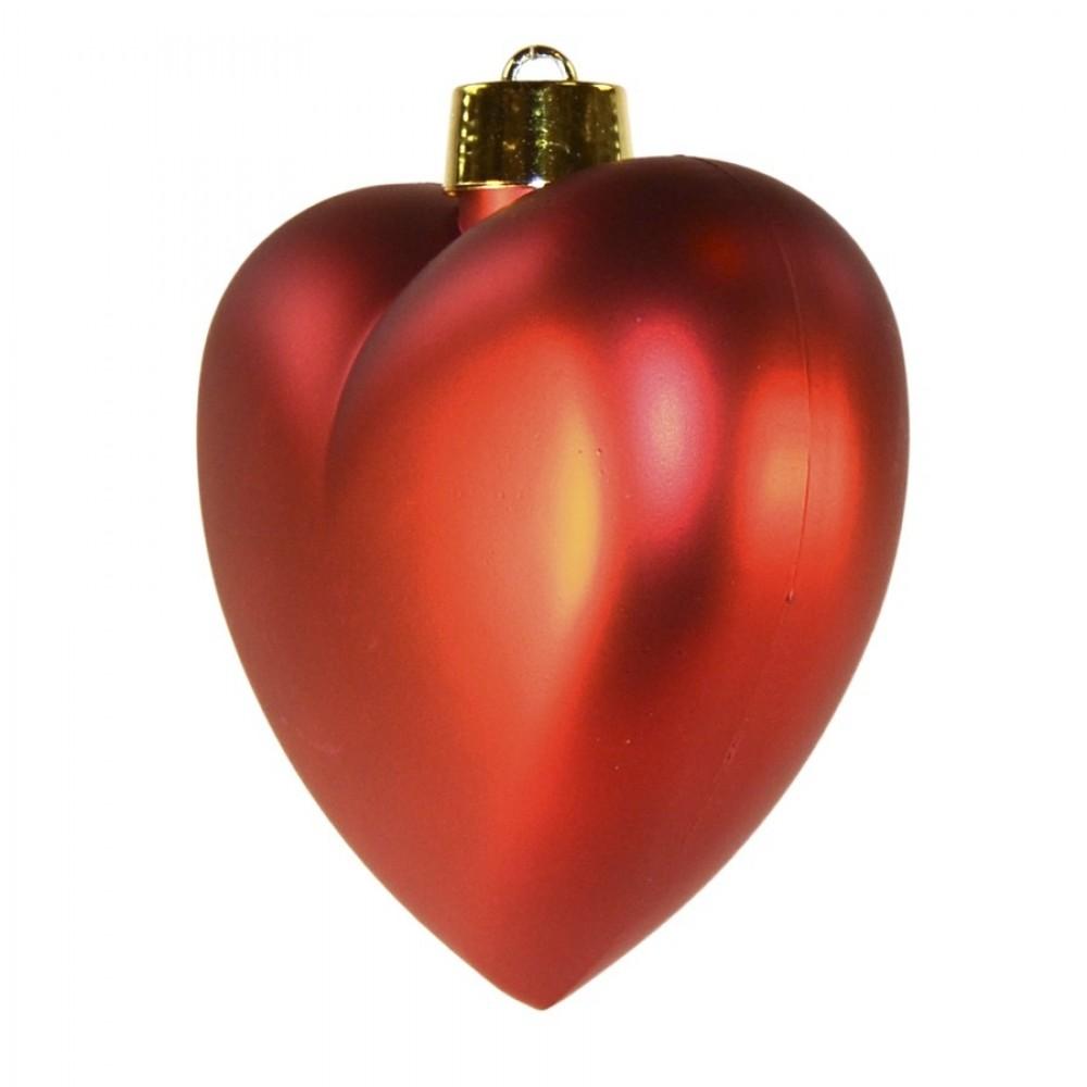 Hjerte, mat rød, 23 cm-01
