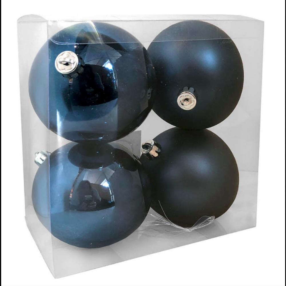 10 cm kugle, midnatsblå, 4 stk i boks-32