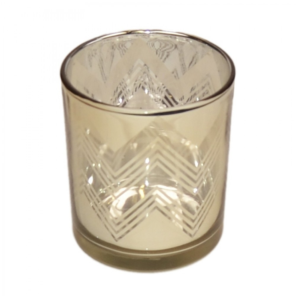 Fyrfadsstage, 10 cm, glas, guld-31