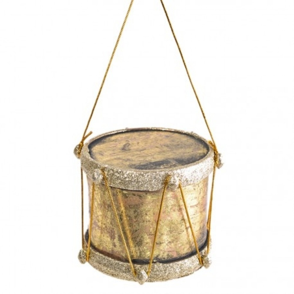 7,5 cm tromme, antik guld-31