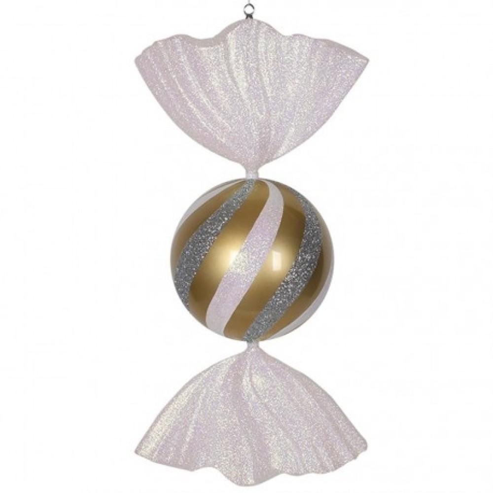 86 cm slik, guld med hvidt og sølvglitter-31