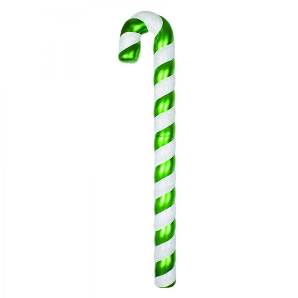 120 cm slikstok, perlemor, grøn m/hvidt glitter-31