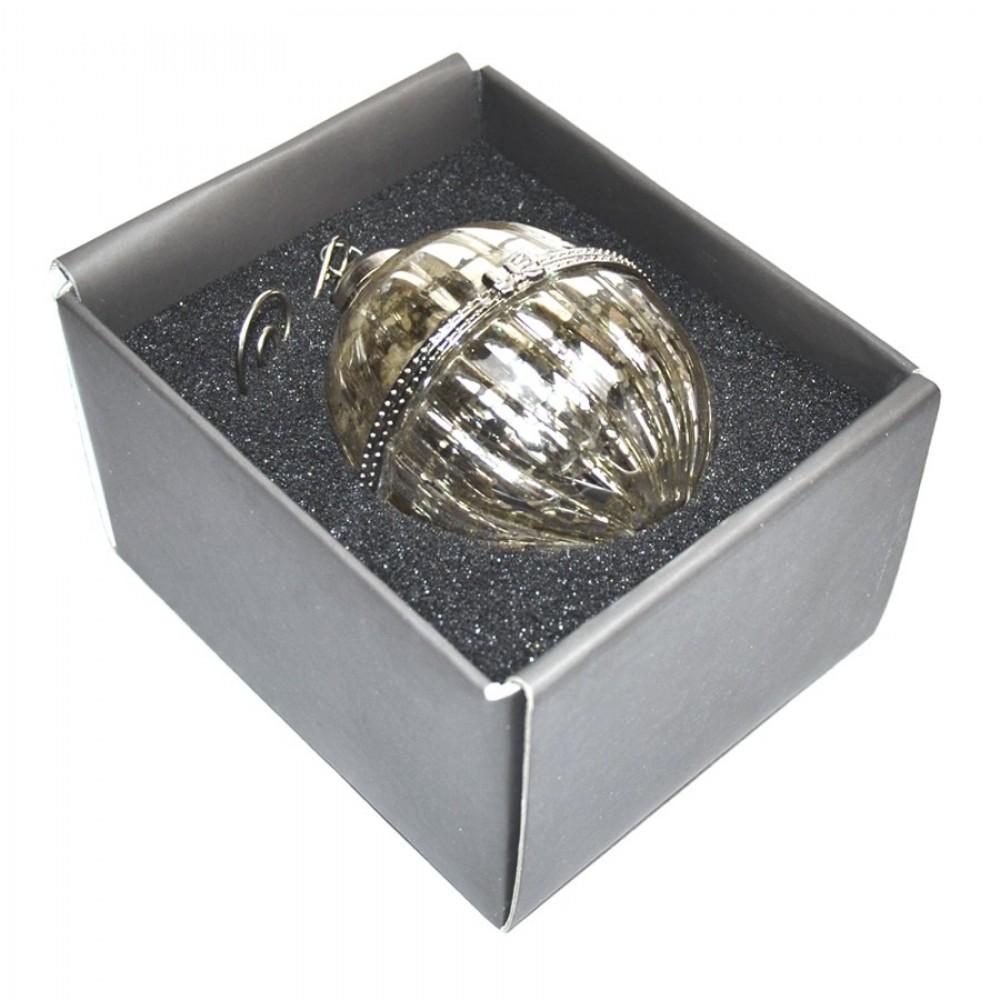 8 cm glaskugle med ornamentering-01