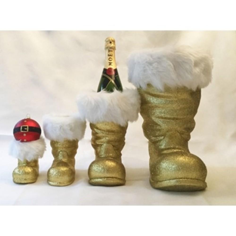 Julemandens støvle, 13 cm rød glitter-03