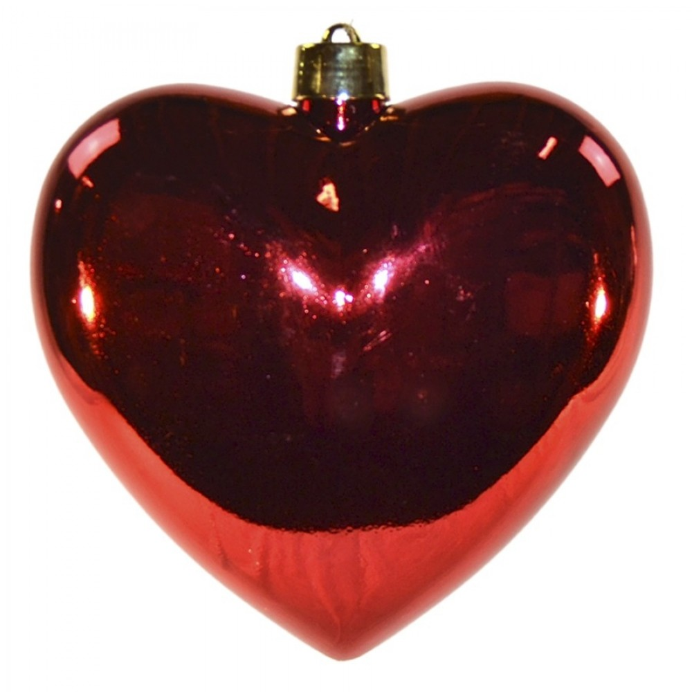 Hjerte, blank rød, 30 cm-31