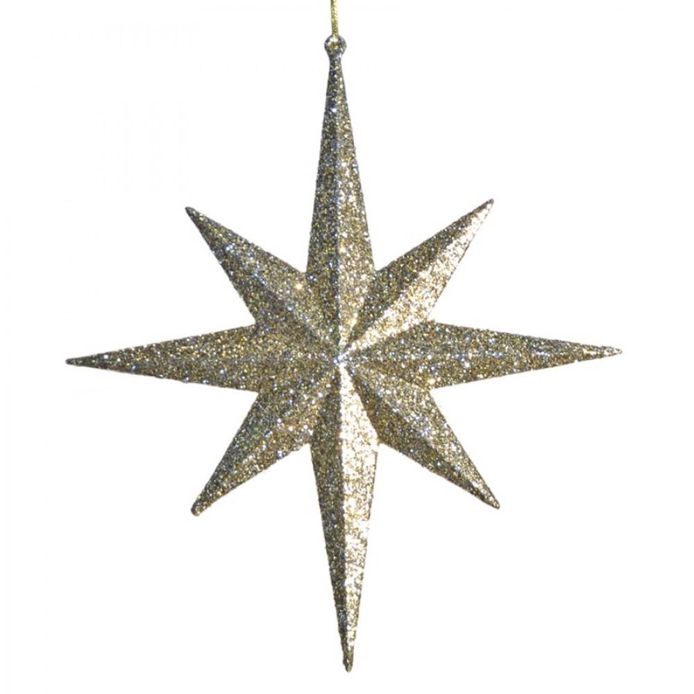 100 cm 8-punkt-stjerne, glitter, champagne-32
