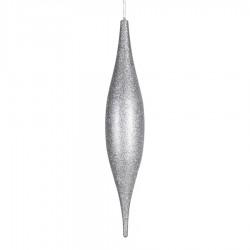 56 cm elipse, glitter, sølv-20