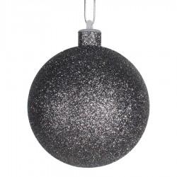 10 cm julekugle med glitter, gunpowder-20