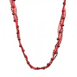 Guirlande, 2,5 meter, rød m/bånd-20