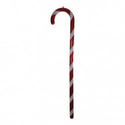 212 cm slikstok, perlemor, rød m/hvidt glitter-20