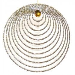 Guldornament, glitter m/simili, 20 cm-20
