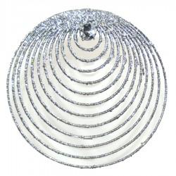 Sølvornament, glitter m/simili, 20 cm-20