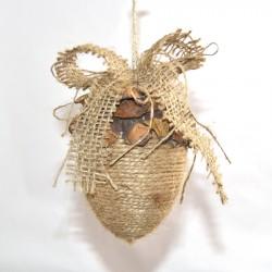 Juleornament med garn og kogle-deko, 10 cm-20