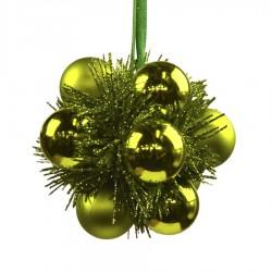 Julekugle, lime, 9 cm, plast-20
