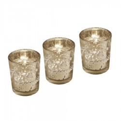 Fyrfadsstage, 3 stk, 6,5 cm, glas-20