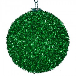 8 cm julekugle, grovglitter, grøn-20
