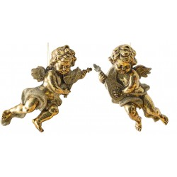28 cm engle, antik guld, sæt a 2 stk.-20