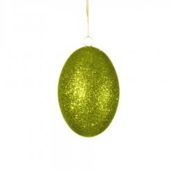 10 cm påskeæg med lime glitter-20