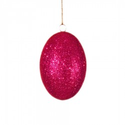 10 cm påskeæg med pink glitter-20