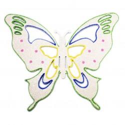 33x40 cm sommerfugle, hvid multi-20