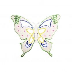 25x30 cm sommerfugle, hvid multi-20