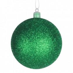 8 cm julekugle, glitter, grøn-20