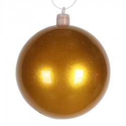 8 cm julekugle, perlemor, guld-20