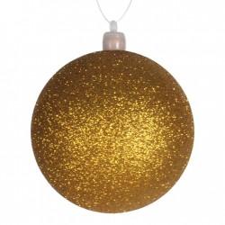 8 cm julekugle, glitter, guld-20
