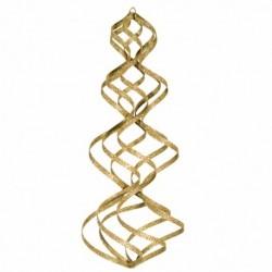38 cm spiral, glitter, guld-20