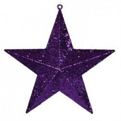 40 cm stjerne, glitter, lilla-20