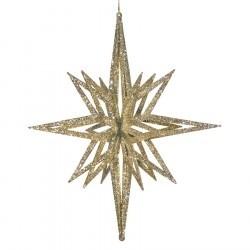 91 cm stjerne, glitter champagne, 3D-20