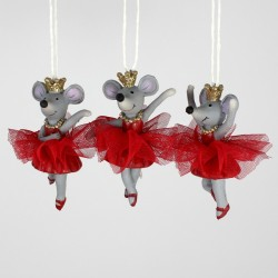 3 ass. ballerina julemus ornamenter-20