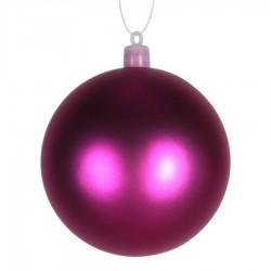 8 cm julekugle, mat, pink-20