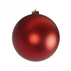 15 cm julekugle, mat rød-20